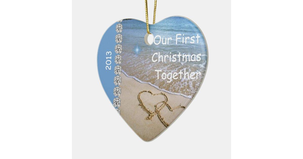 First Christmas TOGETHER BEACH 2013 CUSTOM ORNAMEN Ceramic ...