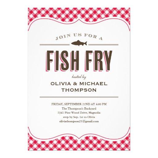 fish fry party invitations 5 x 7 invitation card zazzle. Black Bedroom Furniture Sets. Home Design Ideas