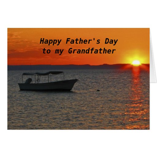Fishing Boat Happy Father's Day Grandfather Card | Zazzle