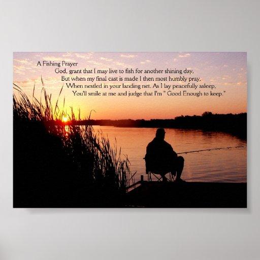 Fishing Prayer Poster Zazzle