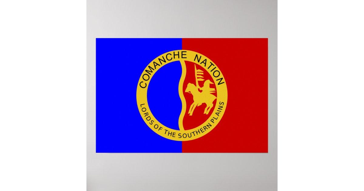 Flag of the Comanche Nation Poster   Zazzle