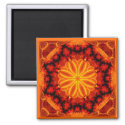 Flaming Orange Kaleidoscope magnet