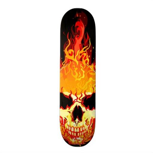 Flaming Skull Skateboard Zazzle