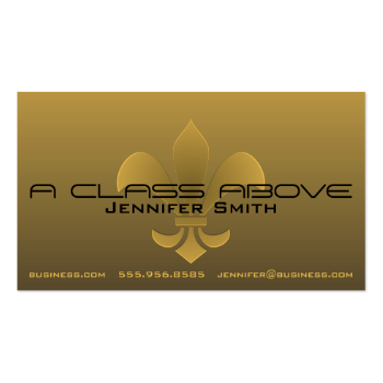 Fleur de Lis Embossed Dark Gradient Pick Any Color Business Card Template