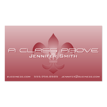 Fleur de Lis Embossed White Gradient Pick A Color Business Card
