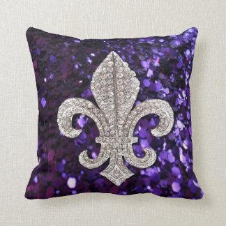 Amethyst Crystal Accent Cushion