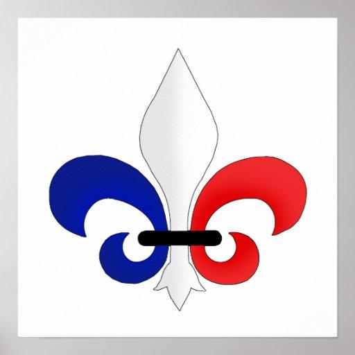 Fleur de lis France flag colours Poster   Zazzle