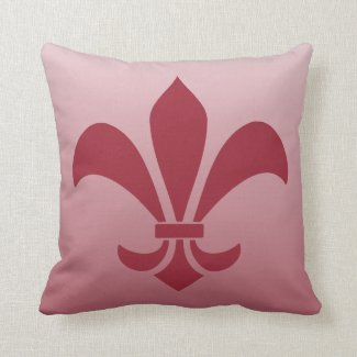 Fleur de Lis Gradient Faded Light Choose Any Color Pillows