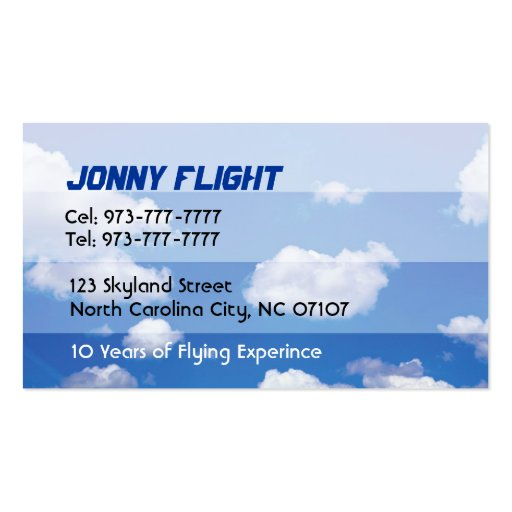 Flight Instructor Business Cards