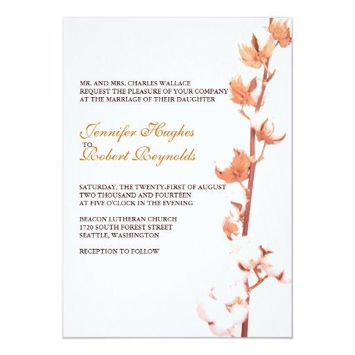 Www Zazzle Com Wedding Invitations: Floral Cotton Wedding Invitation