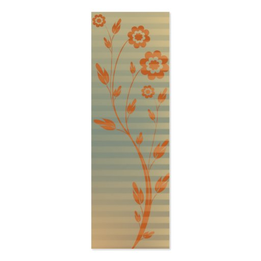 design a bookmark template - floral design bookmark double sided mini business cards