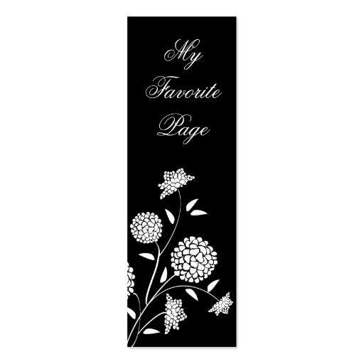 double sided bookmark template - floral fantasy double sided bookmark business card