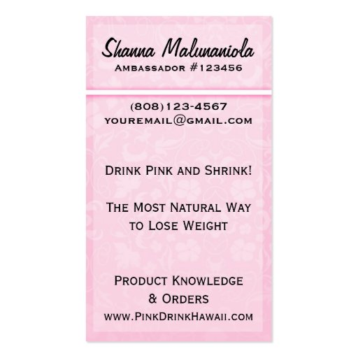 Floral Pink Business Card Template