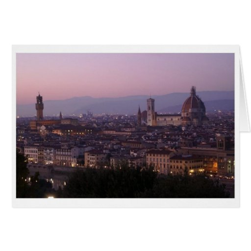 Italian Florence: View From Piazzale Michelangelo Card
