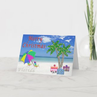 Florida Christmas Cards Beach Themed