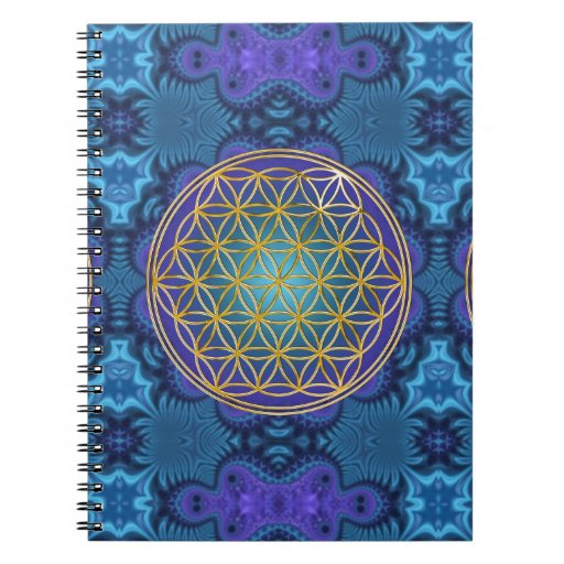 Flower Of Life - gold - fractal 1 Note Books | Zazzle