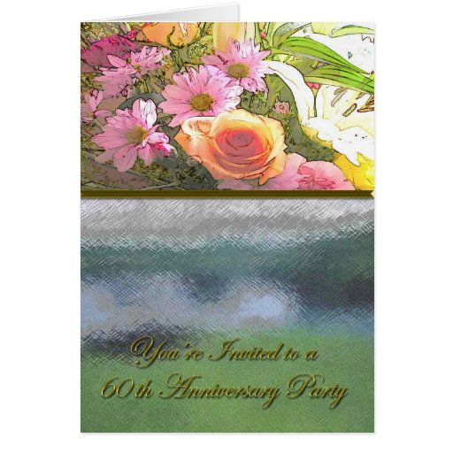 flowers and fog 60th anniversary card zazzle. Black Bedroom Furniture Sets. Home Design Ideas