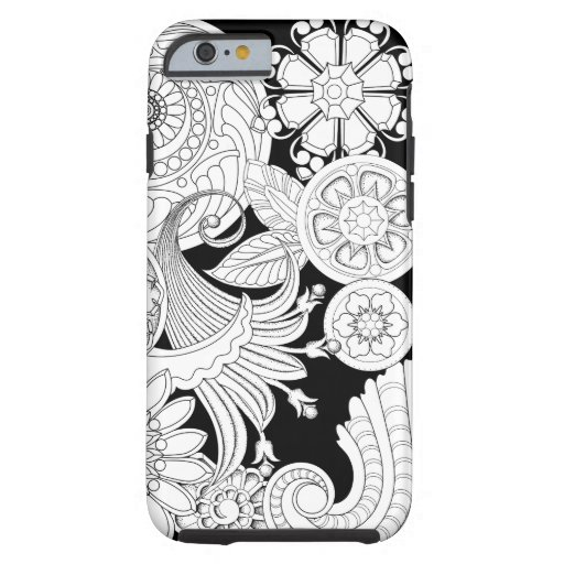 Iphone 4 coloring pages ~ Flowers and Spirals V2 :Color Choice: DIY Coloring Tough ...