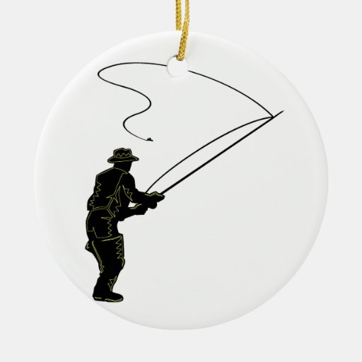 Fly Fishing Ceramic Ornament | Zazzle