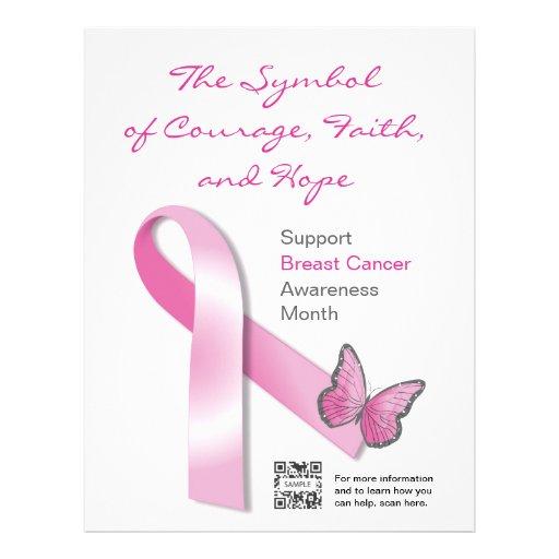 flyer breast cancer awareness letterhead template zazzle
