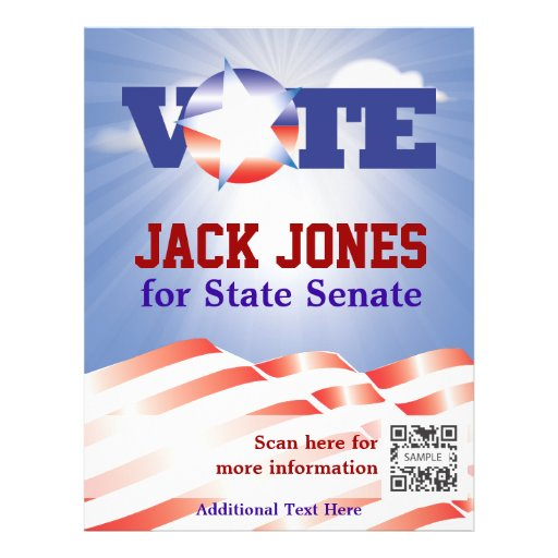 Flyer template vote senate zazzle for Voting flyer templates free
