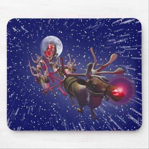 Flying Santa Claus Red...