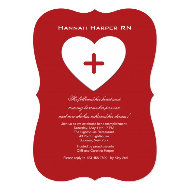 Personalized Medical Retirement Party Invitations