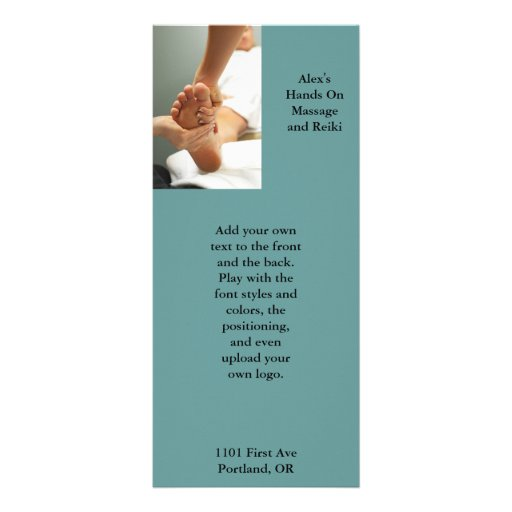 Massage rack cards templates full color massage rack for Massage price list template