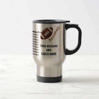 Football Mug Coach, ALL Players Names, BULK or 1