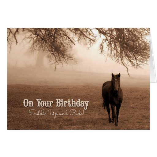 For Cowgirl S Birthday Funny Western Theme Card Zazzle