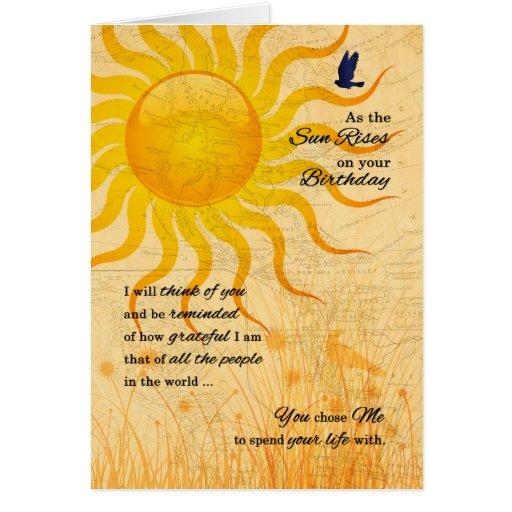 Romantic Sun Rise Card