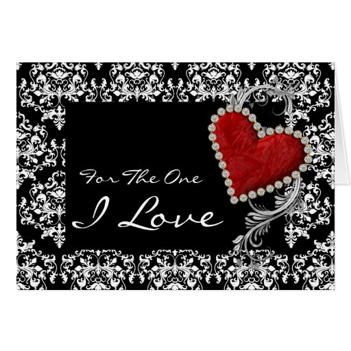 """""""For The One I Love"""" Romantic Valentine Birthday Card"""