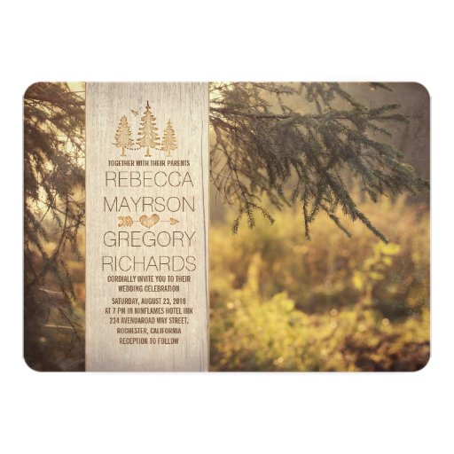 Forest Themed Wedding Invitations: Forest Rustic Wedding Invitations
