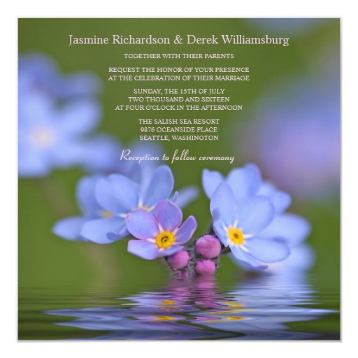 Forget Me Not Wedding Invitations: Forget Me Not Flower Photo Wedding Invitations