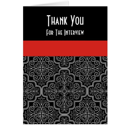 formal interview thank you card  zazzle