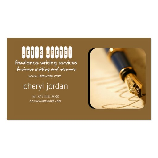 lance writer business cards bizcardstudio fountain pen2 lance writer business card