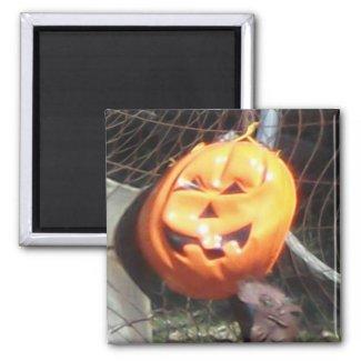 Fractal Traced Halloween Pumpkin magnet