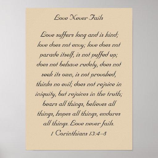 Framed Bible Verse Artwork, 1 Corinthians 13, Love Poster