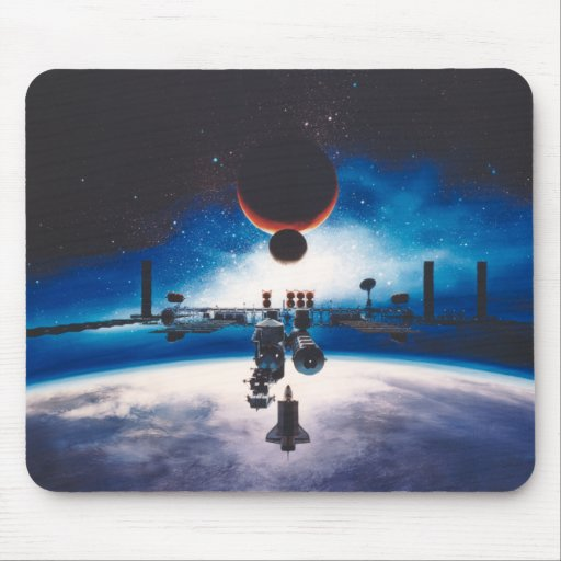 Freedom Space Station Mousepad | Zazzle