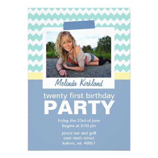 """Fresh 21st Birthday Party Invitations 5"""" X 7"""" Invitation"""