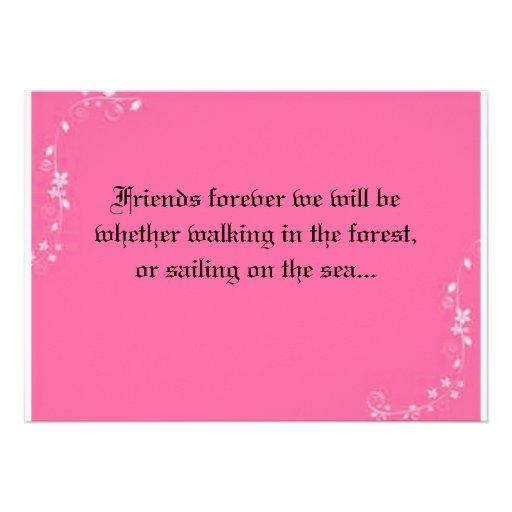 "Wedding Invite For Friends: Friends Forever Wedding Invitation 5"" X 7"" Invitation Card"