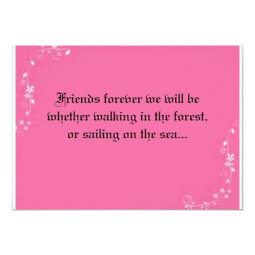 Friends Forever Wedding Invitation