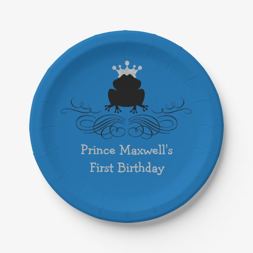 Frog Prince | Birthday Paper Plate | Zazzle