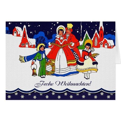 frohe weihnachten german vintage style card zazzle