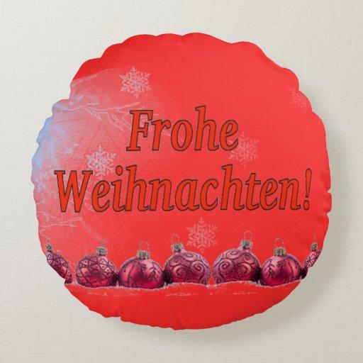 frohe weihnachten merry christmas in german rf round. Black Bedroom Furniture Sets. Home Design Ideas