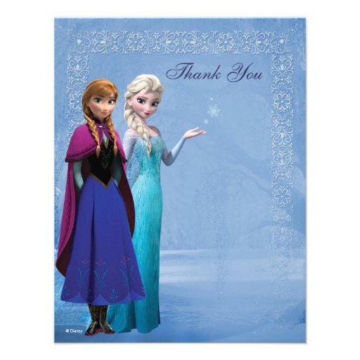 personalized elsa thank you invitations custominvitations4u com