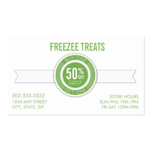Frozen yogurt bar business plan