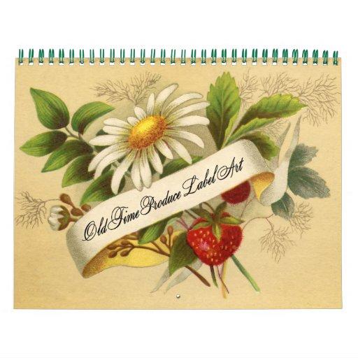 Fruit And Vegetable Vintage Labels Calendar