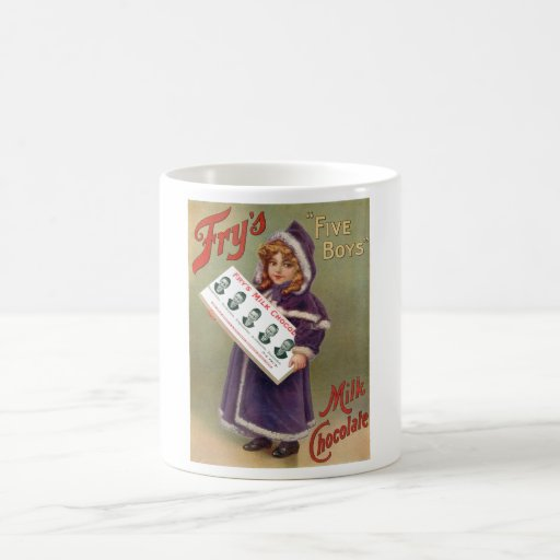 """Keep Calm And Movin Right Along The Muppets: Fry's """"Five Boys"""" Milk Chocolate Ad Sign Coffee Mug"""