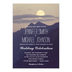 Rural Country Nature Scenes Wedding Invitations